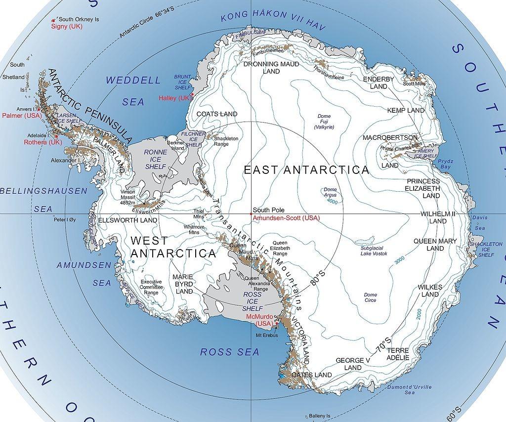 Map of Antartica https://en.wikipedia.org/wiki/Transantarctic_Mountains#/media/File:Antarctica_major_geographical_features.jpg