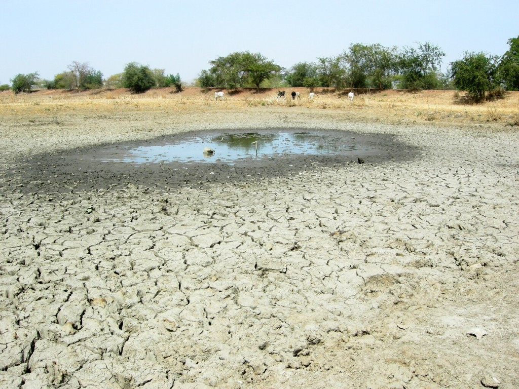 Dry lake in Burkina Faso